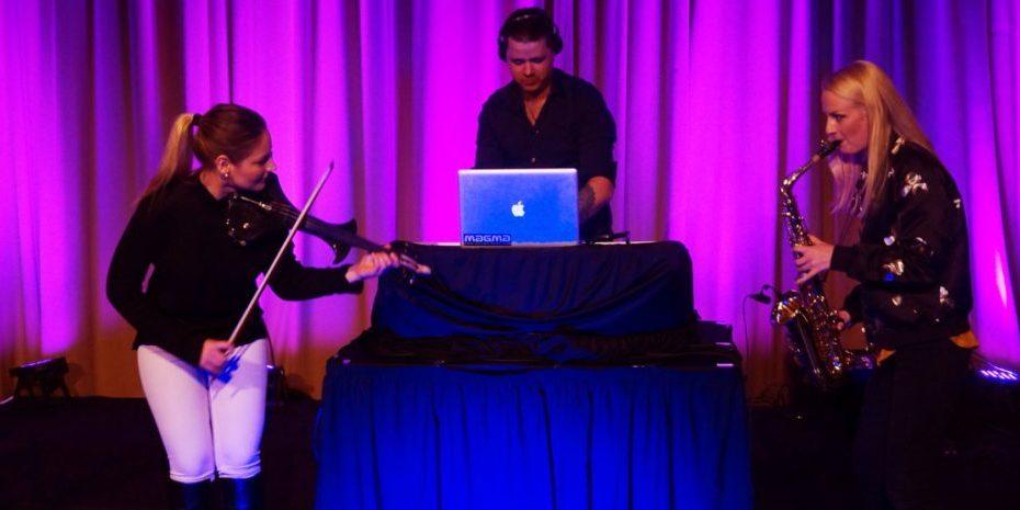 DJ, sax, fiolin